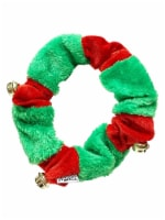 Midlee Red/Green Christmas Plush Bell Collar (Large) - 1
