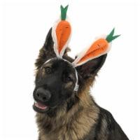 Midlee Carrot Bunny Ears Easter Dog Headband Costume (Small)