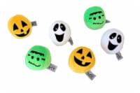 Midlee Silly Face Halloween Balls Plush Dog Toy - 1