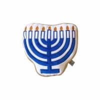 Midlee Hanukkah Menorah Sugar Cookie Dog Toy (Small) - 1
