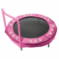 JumpKing JK48BP 48 in. Toddler Trampoline Bouncer - Pink Butterfly