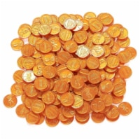 200 Fake Plastic Penny Coins Novelty Pirate Play Toy Prizes Parties Copper Color