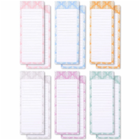 12-Pack to-do-List Magnetic Notepad, 6 Colors, 60 Sheets Per Pad, 3.5  x 9 - PACK