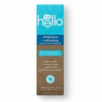 Hello Natural Peppermint Antiplaque + Whitening Fluoride Free Toothpaste