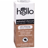 Hello Activated Charcoal with Fresh Mint + Coconut Oil Epic Whitening Fluoride Toothpaste
