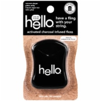 Hello Activated Charcoal Infused Floss