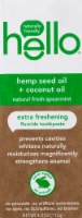 Hello Natural Fresh Spearmint Hemp Seed Oil + Coconut Oil Extra Freshening Fluoride Toothpaste