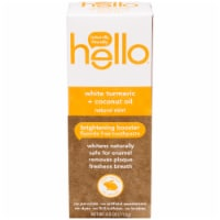 Hello Natural Mint White Turmeric + Coconut Oil Fluoride Free Toothpaste