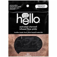 Hello Activated Charcoal Infused Floss Picks