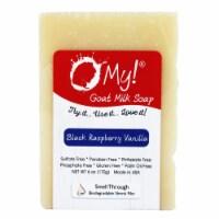 O My 708044 6 oz Goat Milk Black Raspberry Vanilla Soap Bar - 1
