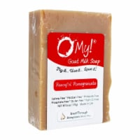 O My 708058 6 oz Goat Milk Peaceful Pomegranate Soap - 1