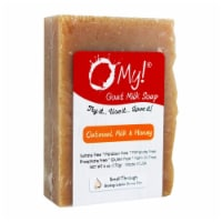 O My 708069 6 oz Goat Milk Oatmeal Honey Soap Bar - 1