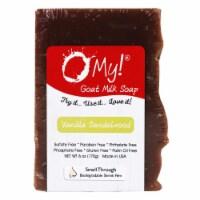 O My 708082 6 oz Goat Milk Vanilla Sandalwood Soap - 1