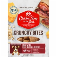 Chicken Soup 418477 12 oz Crunchy Bites Bacon & Cheese Biscuit Dog Treats Food - 1