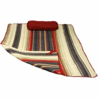Sunnydaze Outdoor Polyester Quilted Hammock Pad & Pillow Only Set - Modern Lines