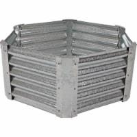 """Sunnydaze Galvanized Steel 40"""" Hexagon Raised Garden Flower Bed - 16"""" Deep - 1 unit(s)"""