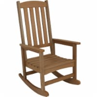 Sunnydaze All-Weather Outdoor Traditional Rocking Chair w/Faux Wood Design-Brown - 1 Rocking Chair