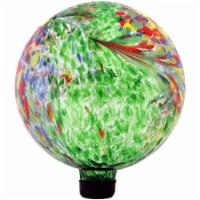 """Sunnydaze Round Green Artistic Glass Outdoor Garden Gazing Ball Globe - 10"""" - 1 Gazing Ball"""