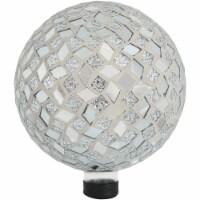 "Sunnydaze Round Mirrored Diamond Mosaic Outdoor Garden Gazing Globe Ball - 10"" - 1 Gazing Ball"