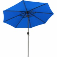Sunnydaze 9' Outdoor Aluminum Sunbrella Patio Umbrella - Auto Tilt -Pacific Blue