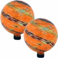 Sunnydaze Sunset Sky Glass Outdoor Gazing Ball Globe - 10-Inch - Set of 2 - 2 Gazing Balls
