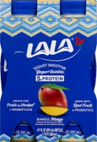 LaLa Mango Flavored Probiotic Yogurt Smoothie Drinks 4 Count