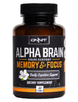 Onnit Alpha Brain Memory and Focus Daily Cognitive Support Dietary Supplement - 30 ct