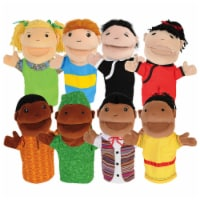 Kaplan Early Learning Diversity Hand Puppets with Movable Arms and Mouths - Set of 8 - 1