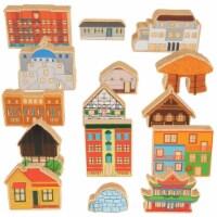 Trenak Trading Homes Around the World Wooden Blocks  - Set of 15 - 1