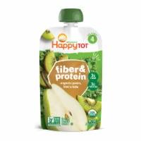 Happy Tot Organics Fiber & Protein Pears Kiwi & Kale Stage 4 Baby Food