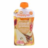 Happy Tot Toddler Food-Organic-Fiber,Protein-Stage 4-Apple Peach Pumpkin,Cinnamon-4 oz-16Case - Case of 16 - 4 OZ each