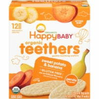 Happy Baby Organics Gluten Free Teethers Sweet Potato & Banana Gentle Teething Wafers