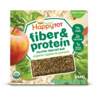 Happy Tot Organics Fiber & Protein Soft-Baked Oat Bars - Apples & Spinach