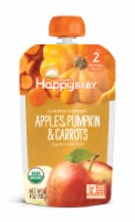 Happy Baby Organics Clearly Crafted Apples Pumpkin & Carrot Stage 2 Baby Food Pouch