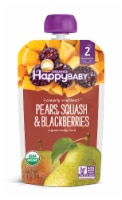 Happy Baby Organics Clearly Crafted Pears Squash & Blackberries Stage 2 Baby Food Pouch