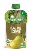 Happy Baby Organics Clearly Crafted Pears Kale & Spinach Stage 2 Baby Food Pouch