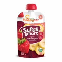 Happy Tot Super Smart Organic Bananas Beets & Strawberries Toddler Food Pouch