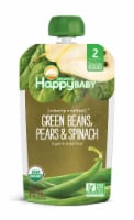 Happy Baby Organics Clearly Crafted Green Beans Spinach & Pears Stage 2 Baby Food
