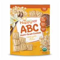 Happy Tot Organics Super Smart Multi-Grain Organic Vanilla Oat Alphabet Snacks + Flaxseed