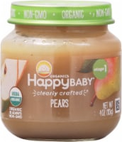 Happy Baby Organics Pears Stage 1 Baby Food