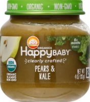 Happy Baby Organic Pears & Kale Stage 2 Baby Food