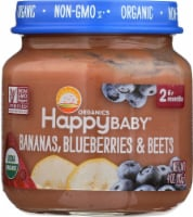 Happy Baby Organic Bananas Blueberries & Beets Stage 2 Baby Food