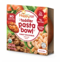 Happy Tot Toddler Pasta Bowl Organic Turkey Bolognese with Lentil Pasta Stage 4 Toddler Meal