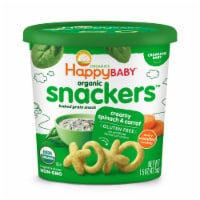 Happy Baby® Organic Snackers™ Gluten Free Creamy Spinach & Carrot Baked Grain Snack - 1.5 oz