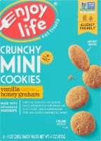 Enjoy Life Crunchy Mini Vanilla Honey Graham Cookies 6 Count