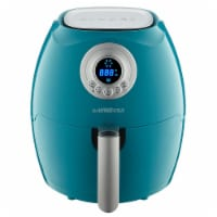 GoWISE USA 2.75-Quart Digital 50 Recipes for your Air Fryer Book, QT, Teal