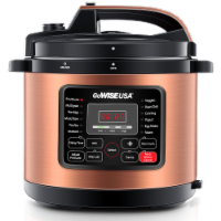 GoWISE USA 12.5-Quarts 12-in-1 Electric Pressure Cooker (Copper)