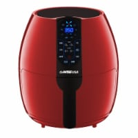 GoWISE USA 5-Quart Air Fryer with 8 Cook Presets, Red