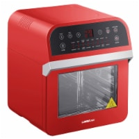 GoWISE USA Deluxe 12.7-Quarts 15-in-1 Electric Air Fryer Oven, Red