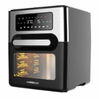 GoWISE USA 12.7 QT Air Fryer Oven Select, Black/Silver
